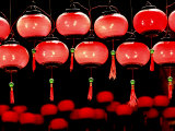 Lanterns in Chinese Temple, Kuala Lumpur, Malaysia Photographic Print by Jay Sturdevant