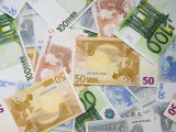 Montage of Miscellaneous Euro Currency Photographic Print by Dennis Flaherty