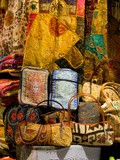 Fabrics for Sale, Vendor in Spice Market, Istanbul, Turkey Photographic Print by Darrell Gulin