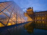 The Louvre at Twilight, Paris, France Photographic Print by Jim Zuckerman