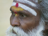 Portrait of a Holy Man, Varanasi, India Photographic Print by Keren Su