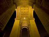 Underside of the Arc de Triomphe at Night, Paris, France Photographic Print by Jim Zuckerman