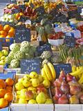Market Stalls with Produce, Sanary, Var, Cote d'Azur, France Reprodukcja zdjęcia autor Per Karlsson