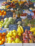 Market Stalls with Produce, Sanary, Var, Cote d'Azur, France Photographic Print by Per Karlsson
