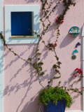 Detail of Pastel Condo, Assos, Kefalonia, Ionian Islands, Greece Fotoprint van Walter Bibikow
