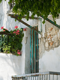 House Detail, Yacht Harbor, Fiskardo, Kefalonia, Ionian Islands, Greece Fotoprint van Walter Bibikow