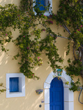 Detail of Pastel Colored Condo, Assos, Kefalonia, Ionian Islands, Greece Photographic Print by Walter Bibikow