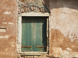 Old Window Along a Walkway, Venice, Italy Photographic Print by Dennis Flaherty