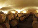 Vaulted Aging Cellar with Barriques Pieces and Maturing Wine, Maison Louis Jadot, Cote d'Or, France Photographic Print by Per Karlsson