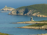 Rugged Coastline of Northern Corsica, Genoese Towers, Cap Corse, Corsica, France Photographic Print by Trish Drury