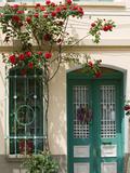 Village Doorway, Agiasos, Lesvos, Mytilini, Aegean Islands, Greece Fotografisk tryk af Walter Bibikow
