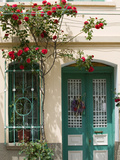 Village Doorway, Agiasos, Lesvos, Mytilini, Aegean Islands, Greece Photographic Print by Walter Bibikow