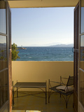 View from Hotel Room of Mediterranean, Ile Rousse, Corsica, France Photographic Print by Trish Drury