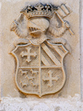 Medieval Coat of Arms, Chateau Carignan, Premieres Cotes De Bordeaux, France Photographie par Per Karlsson