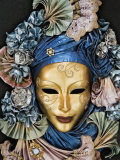 Venetian Paper Mache Mask Worn for Carnivals and Festive Occasions, Venice, Italy Fotografie-Druck von Dennis Flaherty