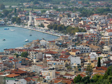 Morning Town View from Venetian Kastro Castle, Zakynthos, Ionian Islands, Greece Photographic Print by Walter Bibikow