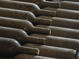 Old Bottles Aging in the Cellar, Chateau Vannieres, La Cadiere d'Azur Photographic Print by Per Karlsson