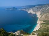 Coastline View, Assos, Kefalonia, Ionian Islands, Greece Photographic Print by Walter Bibikow