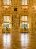 Interior Room of Peterhof, Royal Palace Founded by Tsar Peter the Great, St. Petersburg, Russia Photographic Print by Nancy & Steve Ross