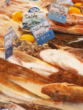 Street Market, Merchant's Stall with Fish, Sanary, Var, Cote d'Azur, France Photographic Print by Per Karlsson