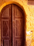 Old Brown Wooden Door, Rhodes, Dodecanese Islands, Greece Photographic Print by Steve Outram