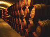 Barrels of Tokaj Wine in Disznoko Cellars, Hungary Photographic Print by Per Karlsson