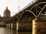 Bridge Pont Des Arts Over the Seine River, Academie Francaise, Paris, France Photographic Print by Per Karlsson