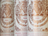 Row of Bottles, Chateau Baron Pichon Longueville, Pauillac, Medoc, Bordeaux, France Photographic Print by Per Karlsson