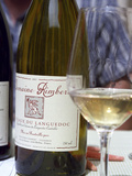 Bottle and Glass of Domaine Rimbert, Saint-Chinian, Coteaux Du Languedoc Photographic Print by Per Karlsson