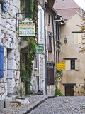 Cobblestone Street in Old Town with Stone Houses, Le Logis Plantagenet Bed and Breakfast Photographic Print by Per Karlsson