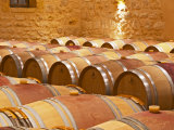 Wine Cellar, Barriques Barrels, Chateau Grand Mayne, Saint Emilion, Bordeaux, France Photographic Print by Per Karlsson