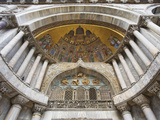 Carvings and Facade Mosaics on St. Mark's Basilica, Venice, Italy Photographic Print by Dennis Flaherty
