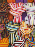 Colorful Scarfs for Sale at Market, Pisa, Italy Photographic Print by Dennis Flaherty
