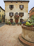 Local Restaurant in Piazza, Pienza, Italy Photographic Print by Dennis Flaherty