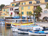 View of Harbour with Fishing and Leisure Boats, Sanary, Var, Cote d'Azur, France Photographic Print by Per Karlsson
