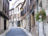 Old Town with Stone and Wooden Beam Houses, Bergerac, Dordogne, France Photographic Print by Per Karlsson