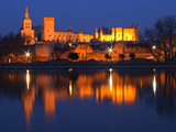 Pope's Palace in Avignon and the Rhone River at Sunset, Vaucluse, Rhone, Provence, France Photographic Print by Per Karlsson