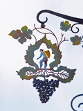 Wrought Iron Sign, Hautvillers, Vallee De La Marne, Champagne, Ardennes, France Photographic Print by Per Karlsson