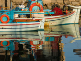Fishing Port, Lesvos, Mithymna, Northeastern Aegean Islands, Greece Stampa fotografica di Walter Bibikow