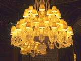 Crystal Chandelier, Baccarat Museum Shop and Restaurant, Hotel De Noailles, Paris, France Photographic Print by Per Karlsson