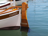 Traditional Boat with Wooden Rudder, Cassis, Cote d'Azur, Var, France Photographic Print by Per Karlsson