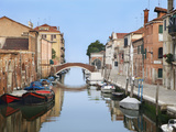 View Along City Canals, Venice, Italy Photographic Print by Dennis Flaherty