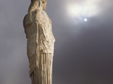 Caryatid from the Classical Era Adjacent to the Parthenon at the Acropolis, Athens, Greece Photographic Print by Nancy Noble Gardner
