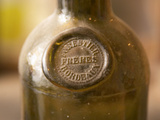 Antique Wine Bottle with Molded Seal, Chateau Belingard, Bergerac, Dordogne, France Photographic Print by Per Karlsson