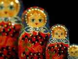 Russian Handicrafts, Matrushka Nesting Dolls Fotografie-Druck von Cindy Miller Hopkins