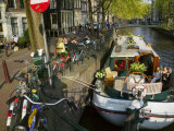 Houses and Bridge Along the Canal Belt, Amsterdam, Netherlands Photographic Print by Keren Su