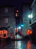 Korcula Old Town at Night, Croatia Photographic Print by Steve Outram