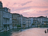 Grand Canal at Dusk from Academia Bridge, Venice, Italy Photographic Print by Dennis Flaherty