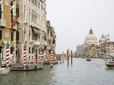 View of Motorboats on the Grand Canal, Venice, Italy Photographic Print by Dennis Flaherty