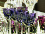 Crystal Glasses, Baccarat Museum Shop and Restaurant, Hotel De Noailles, Paris, France Photographic Print by Per Karlsson